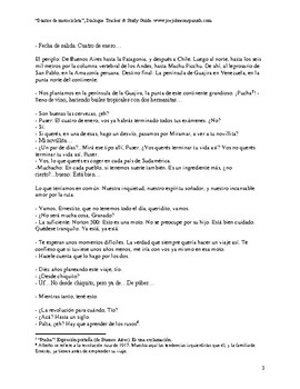 """""""Diarios de Motocicleta"""" Dialogue Tracker and Study Guide"""