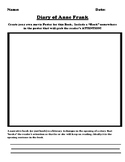 """""""Diary of Anne Frank"""" Book by Anne Frank Hook and Movie Poster Worksheet"""
