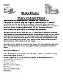 """Diary of Anne Frank""  Theme Worksheet"