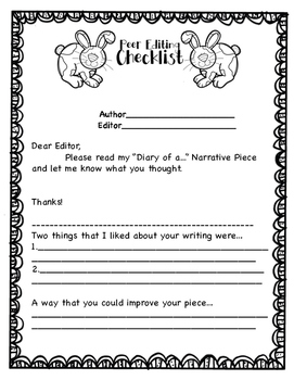 """Diary of a..."" Ready to Go Writing Activity"