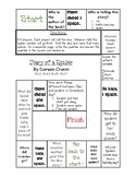 """Diary of a Spider"" 2nd grade Journeys Unit 1, Lesson 4, comprehension game"