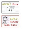 """Diary of a Wimpy Kid"" Inspired V.I.P. Hall & Bathroom Passes"