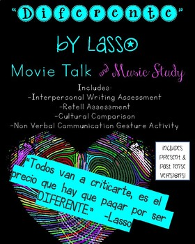 """""""Diferente"""" by Lasso:  Movie Talk AND Music Study"""
