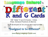 """""""Different"""" K and G cards - Set of 184"""