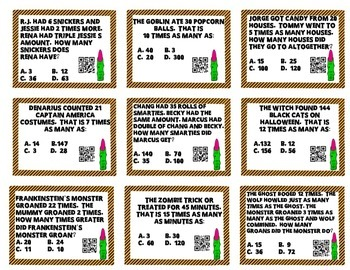*Differentiated* Multiplicative Comparisons Halloween Game