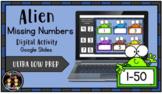 (Digital) Alien Missing Numbers (1-50) (Google Slides)