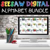 Digital Alphabet Activities Phonics Letters Seesaw Bundle