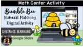 (Digital) Bumble Bee Numeral Match Math Center Activity (1