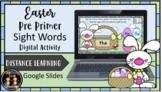 (Digital) Easter Bunny Pre-Primer Sight Words Literacy Cen