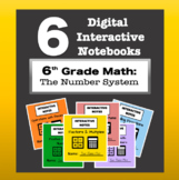 6th Grade Math - Digital Interactive Notebook BUNDLE! (The