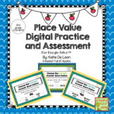 Digital Place Value Task Cards and Assessments