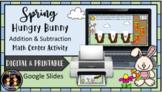 (Digital & Printable) Spring Hungry Bunny Addition & Subtr