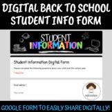 ✨Digital Student Information Form✨
