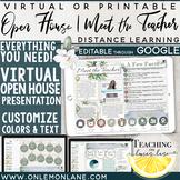 Digital Virtual Meet the Teacher Virtual Open House Google Classroom Distance