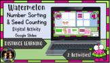 (Digital) Watermelon Number Sorting/Counting (Google Slid