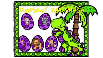 """Dinosaur Eggs Playdough SMUSH Mats"" for Speech and Language"