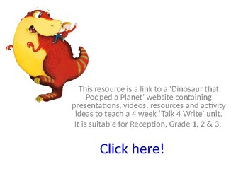 'Dinosaur that Pooped a Planet' website containing a month of teaching material.