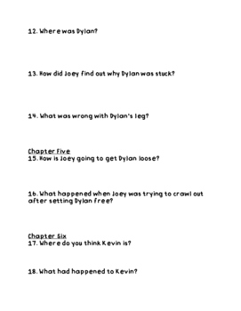 """""""Disaster Strikes: Earthquake Shock"""" Comprehension Questions"""