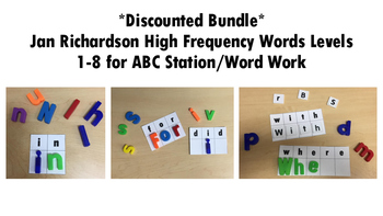 *Discounted Bundle* Jan Richardson High Frequency Words Center DRA Levels 1-8