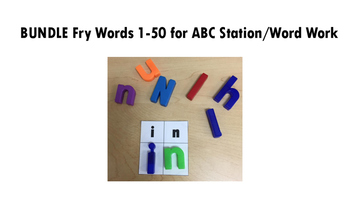 *Discounted Bundle* Magnetic Letter ABC Station/Word Work Fry Words 1-50