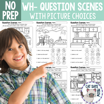 NO PREP Wh-Question Scenes with Picture Choices