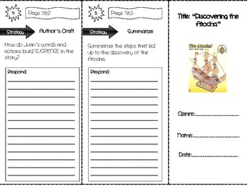 """""""Discovering the Atocha"""" Comprehension Trifold (Storytown"""