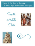 """""""Discuss It"""": 5 days of Classroom Discussion! Topic: Ancient Greek Philosophy"""