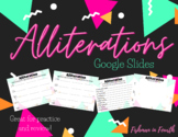 Alliterations Practice and Review Google Slides Activities