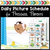 (Distance Learning) At Home Daily Schedule for Preschool a