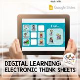 *Distance Learning* Digital Behavior Think Sheets