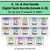 {Distance Learning} Digital Books, Levels A-N - Kinder, 1s