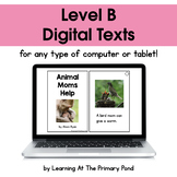 {Distance Learning} Digital Level B Books