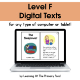 {Distance Learning} Digital Level F Books