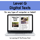 {Distance Learning} Digital Level G Books