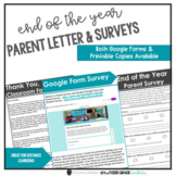 Distance Learning Editable End of the Year Letter AND Parent & Student Surveys