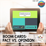 *Distance Learning* Fact vs. Opinion Boom Cards
