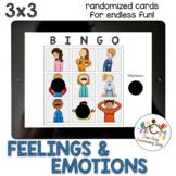 *Distance Learning* Feelings & Emotions Bingo (3x3)