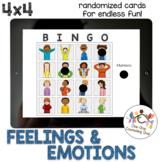 *Distance Learning* Feelings & Emotions Bingo (4x4)