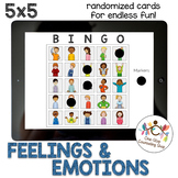 *Distance Learning* Feelings & Emotions Bingo (5x5)