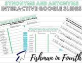 |Distance Learning| Interactive Synonym and Antonym Google Slides