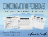 |Distance Learning| Onomatopoeia Interactive Google Slides