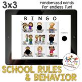 *Distance Learning* School Rules & Behavior Bingo (3x3)