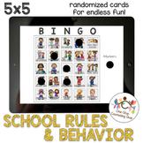 *Distance Learning* School Rules & Behavior Bingo (5x5)