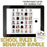 *Distance Learning* School Rules & Behavior Bingo Multiage Bundle