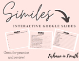 |Distance Learning| Similes Interactive Google Slides