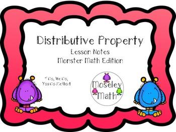 **Distributive Property Lesson Notes Freebie!!!**