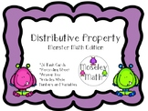 **Distributive Property Task Cards with Recording Sheet and Answer Key**