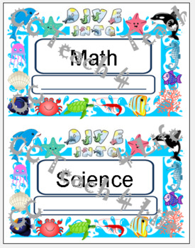 """""""Dive Into ..."""" Interactive Notebook Covers"""