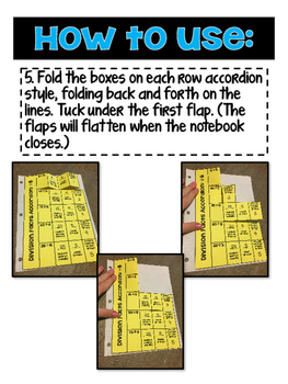 {Division} Math Facts Accordions for Interactive Notebooks