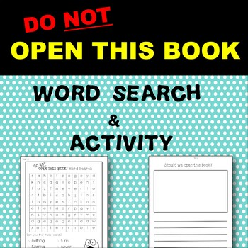 'Do Not Open This Book' Word Search and Pre-Reading Activity